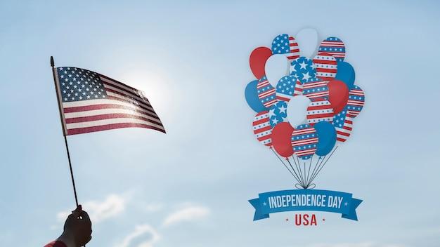 Copyspaceとの独立記念日のモックアップ