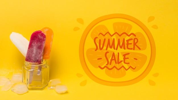 Copyspaceと夏のアイスクリーム組成