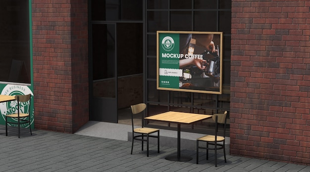 Corner business mock-up for coffee shops