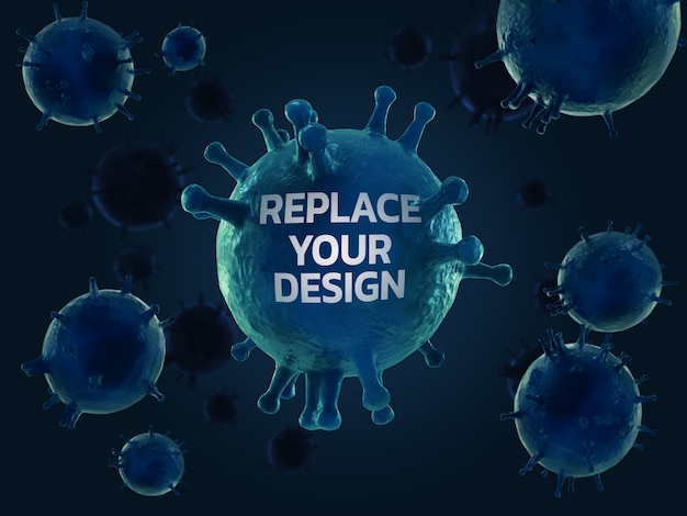 Corona virus   3d rendering design