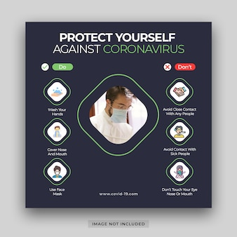 Corona virus covid-19 infographic elements the signs and symptoms banner template psd premium psd