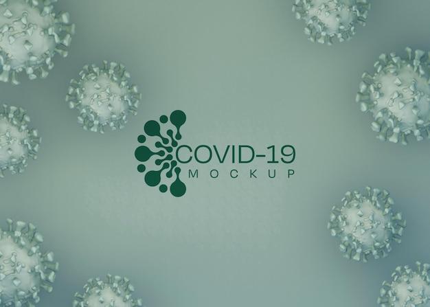 Мокап фона коронавируса. covid-19.
