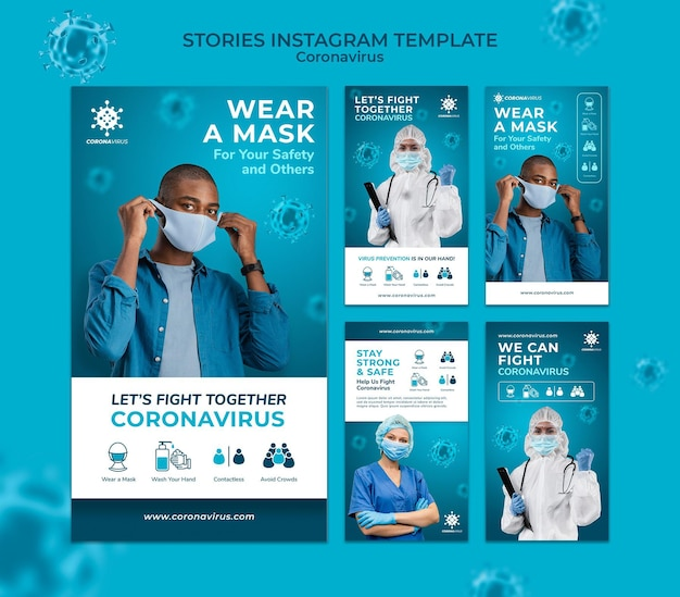 Coronavirus instagram stories template
