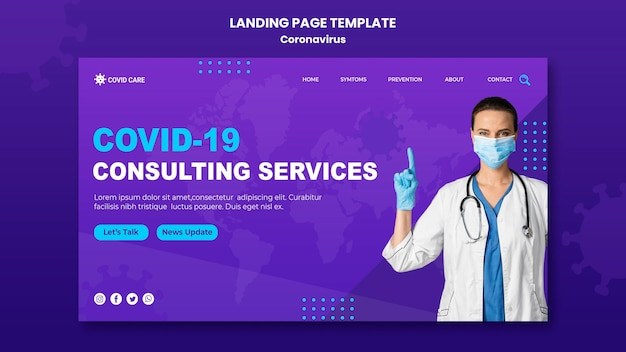 Coronavirus landing page template