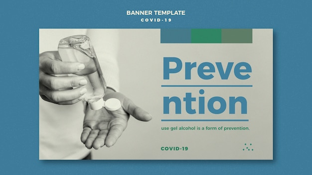 Coronavirus prevention banner template