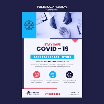 Coronavirus print template with photo