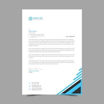Corporate a4 letterhead themplate