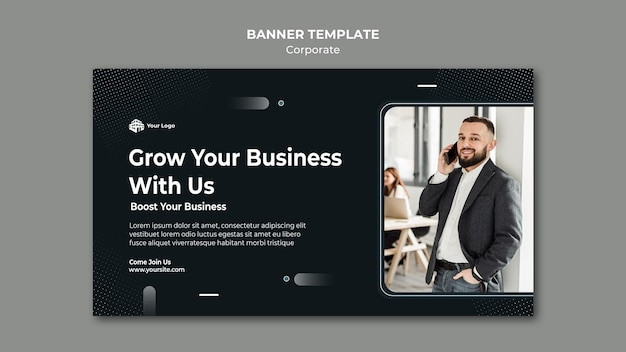 Corporate ad banner template