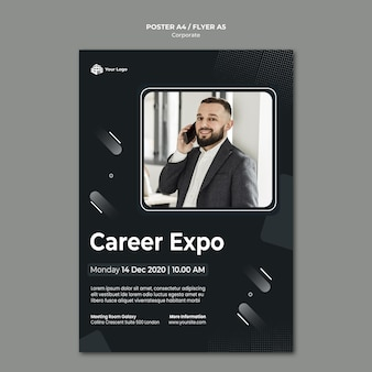 Corporate ad flyer template