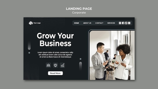 Corporate ad landing page template