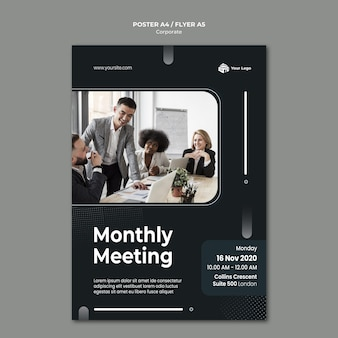 Corporate ad template poster