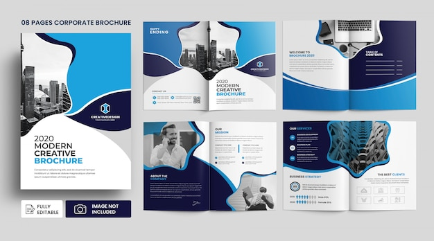 Corporate agency business brochure template