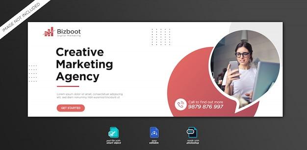 Шаблон обложки facebook для продвижения корпоративного и цифрового бизнеса