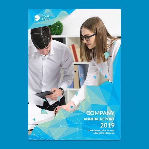 Corporate annual report mockup