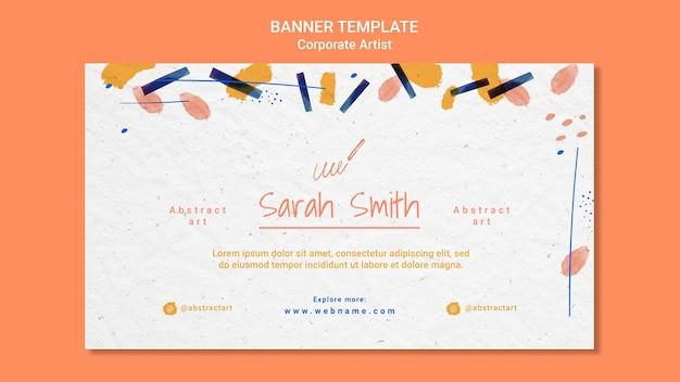 Corporate artist concept banner template
