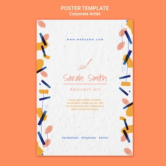 Corporate artist concept poster template