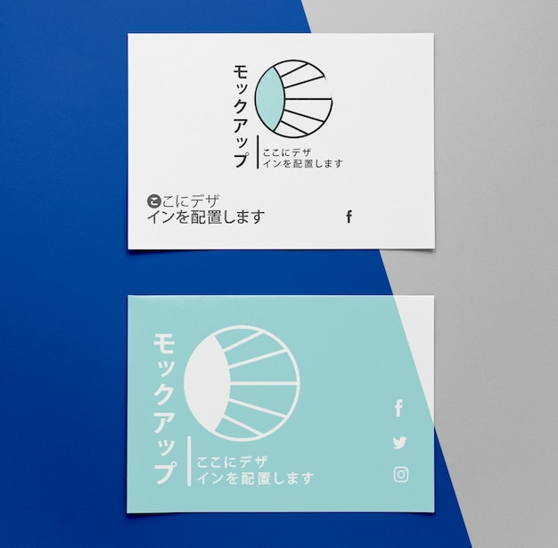 Corporate asian business documents mock-up