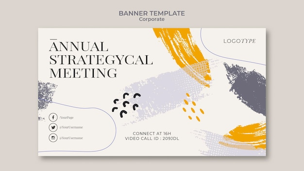 Corporate banner template