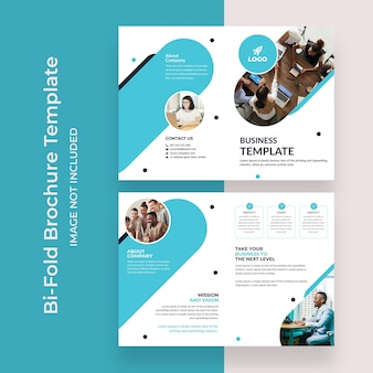 Corporate bifold brochure template design