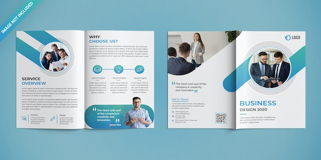 Corporate bifold brochure template