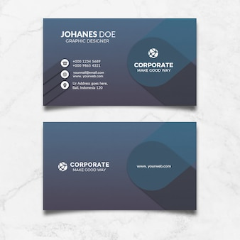 Corporate black business card