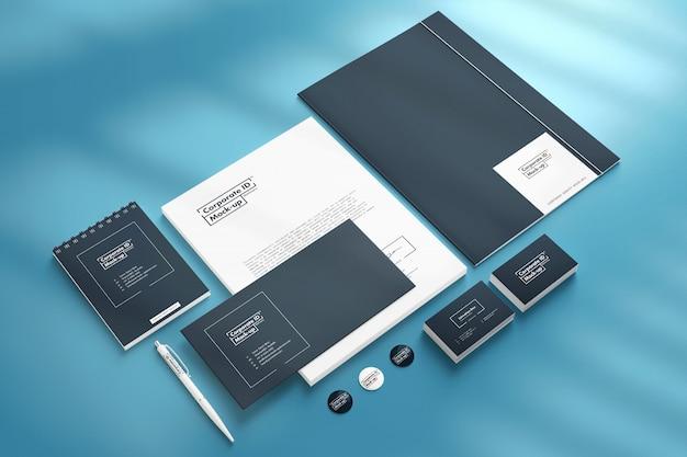 Corporate branding identity mock-up set