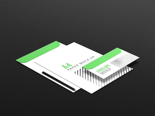 Набор макетов канцелярских товаров для корпоративного брендинга