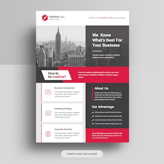 Corporate business a4 flyer cover template  psd
