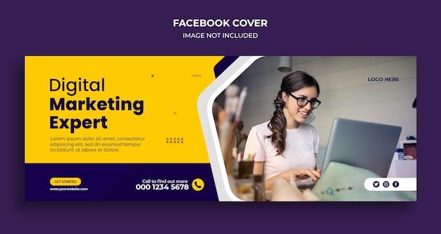 Обложка facebook и шаблон веб-баннера агентства корпоративного бизнеса