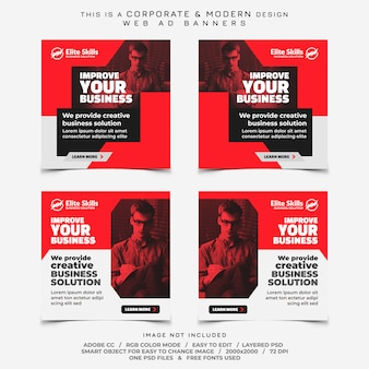 Corporate business banners ads