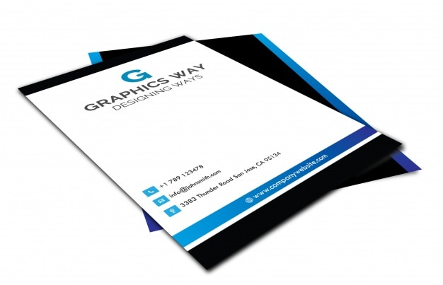 Corporate business brochure mockup