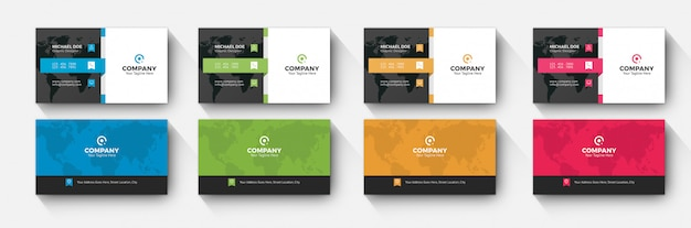 Corporate business card 4 color variation
