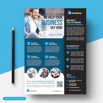 Corporate business card flyer template