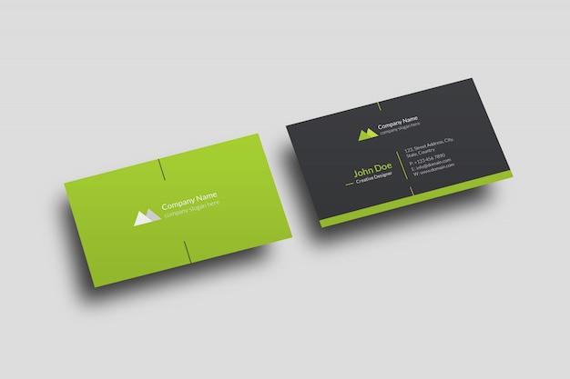 Корпоративный макет визитки