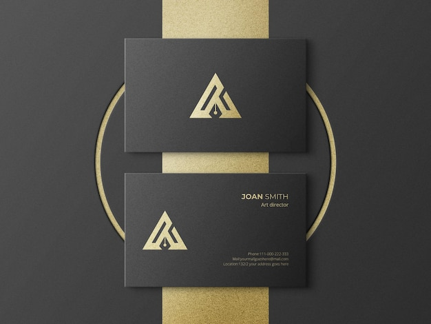 Corporate business card mockup