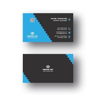 Corporate business card themplate