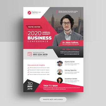 Corporate business conference a4 cover flyer template design