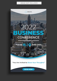 Corporate business conference for instagram story template