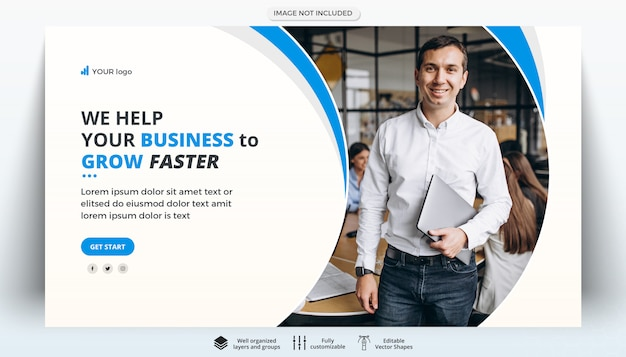 Corporate business creative web banner template