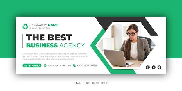 Корпоративное агентство цифрового маркетинга facebook обложка и шаблон дизайна веб-баннера
