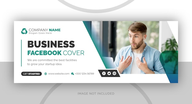 Corporate business digital marketing agency facebook cover and web banner design template