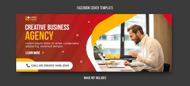 Corporate and business facebook cover template