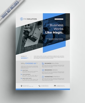 Corporate business flyer - blue