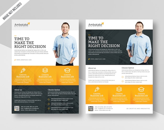 Corporate business flyer template premium psd