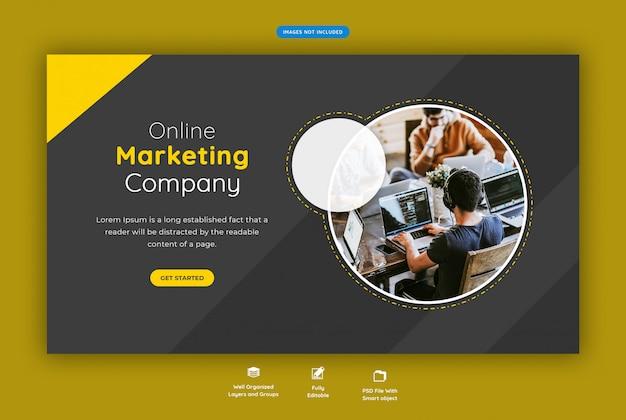 Корпоративный бизнес горизонтальный веб-баннер