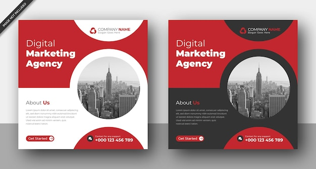 Corporate business instagram post social media web banner template