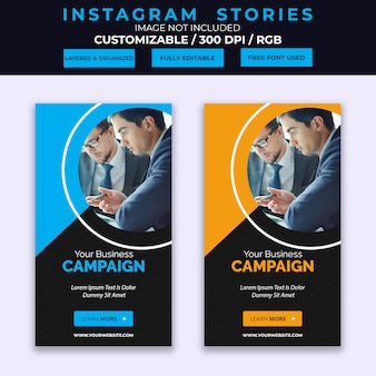 Corporate business instagram stories template
