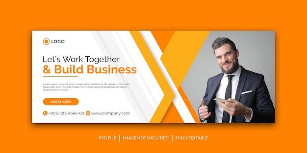 Шаблон обложки для продвижения корпоративного бизнеса в facebook и социальных сетях