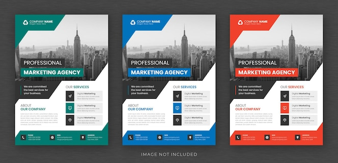 modello di volantino multiuso per business aziendale e copertina dell'opuscolo