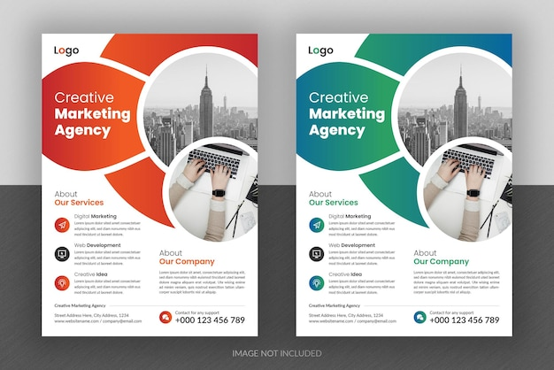 Corporate business multipurpose flyer design and brochure cover page template